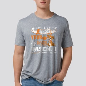 Be Person Scary Basenji Thinks You Hallowe T-Shirt