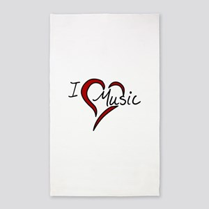 I Love Music 3'x5' Area Rug