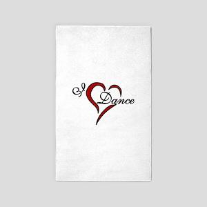 I Love Dance 3'x5' Area Rug