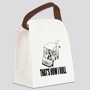 Funny Golf Quote Canvas Lunch Bag