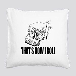 Funny Golf Quote Square Canvas Pillow