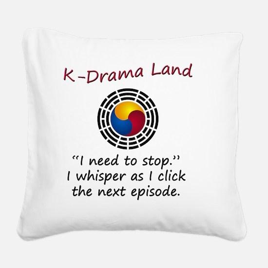 Cute Korean Square Canvas Pillow