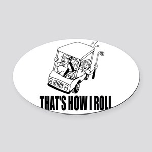Funny Golf Quote Oval Car Magnet