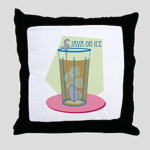 Java On Ice Throw Pillow