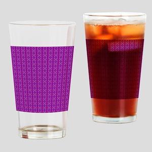 Purple Pattern Drinking Glass