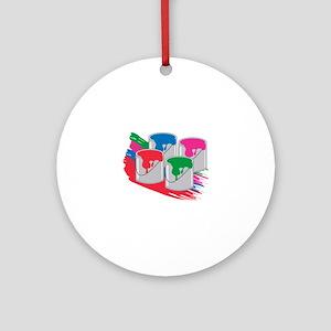 PaintCans Ornament (Round)