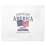 GOD Bless America King Duvet
