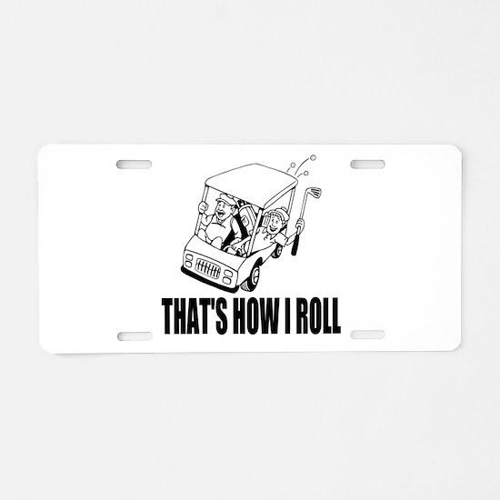 Funny Golf Quote Aluminum License Plate