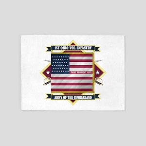 1st Ohio Volunteer Infantry (Diamond) 5'x7'Are