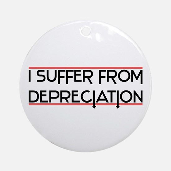 Depreciation Account Ornament (Round)
