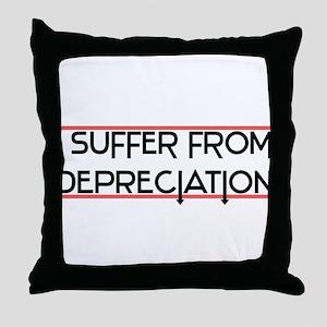 Depreciation Account Throw Pillow