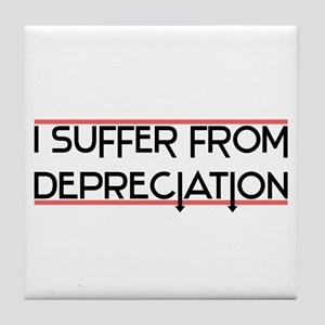 Depreciation Account Tile Coaster
