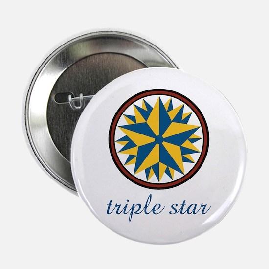 "Triple Star 2.25"" Button"