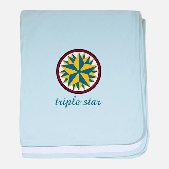 Triple Star baby blanket