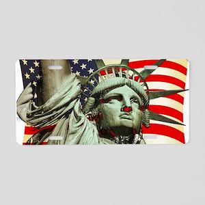 Liberty U.S.A. Aluminum License Plate