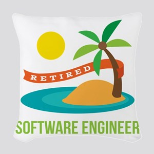 Retired Software engineer Woven Throw Pillow