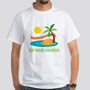 Retired Software engineer White T-Shirt