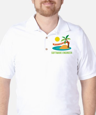 Retired Software engineer Golf Shirt