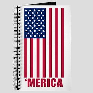 Merica American Flag Journal