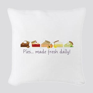 Made Fresh Daily! Woven Throw Pillow