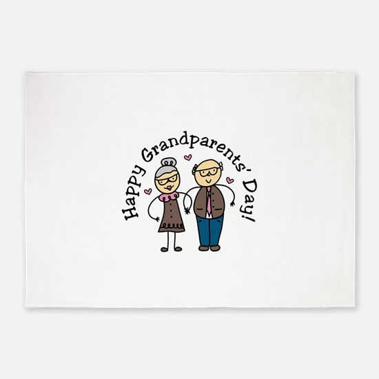 Grandparents Day 5'x7'Area Rug