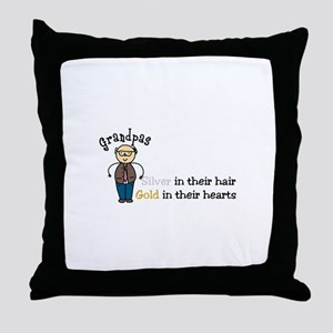 Silver Hair Throw Pillow