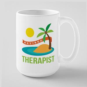 Retired Therapist Large Mug
