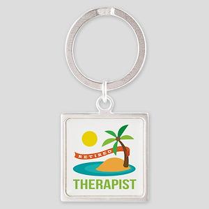 Retired Therapist Square Keychain
