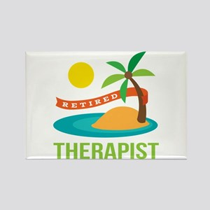 Retired Therapist Rectangle Magnet