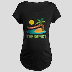 Retired Therapist Maternity Dark T-Shirt