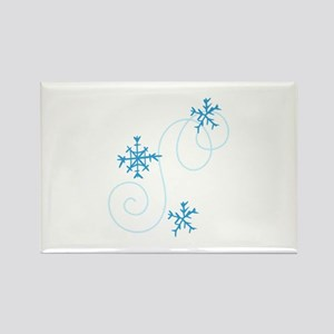 Snowflake Swirls Magnets