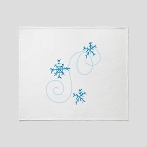Snowflake Swirls Throw Blanket
