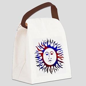 Patriotic sunface Canvas Lunch Bag