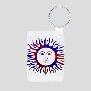 Patriotic sunface Keychains