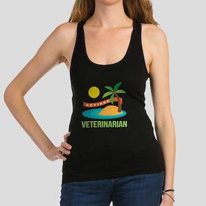 Retired Veterinarian Racerback Tank Top