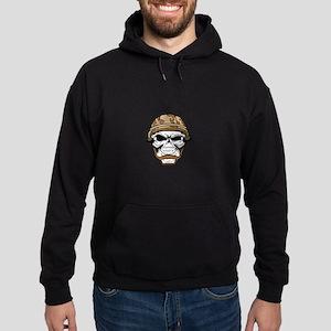 Skull Wearing Helmet Hoodie