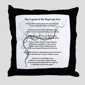 """Dogwood Tree Legend"" Throw Pillow"