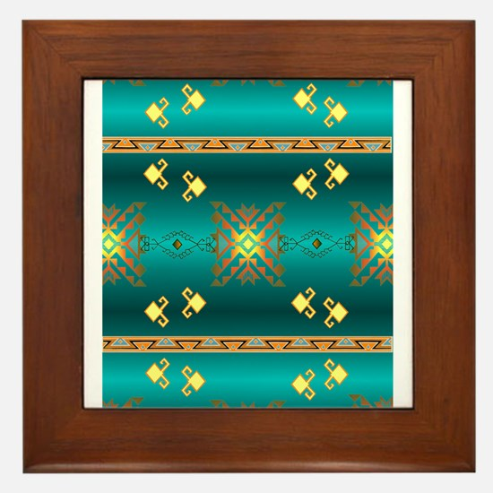 Cute Cherokee vintage Framed Tile