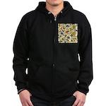 Elizabethan Swirl Embroideries Zip Hoodie (dark)