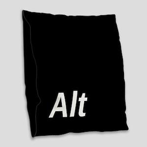 Alt Key Burlap Throw Pillow
