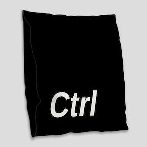 Control Key Burlap Throw Pillow