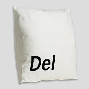 Delete Key Burlap Throw Pillow