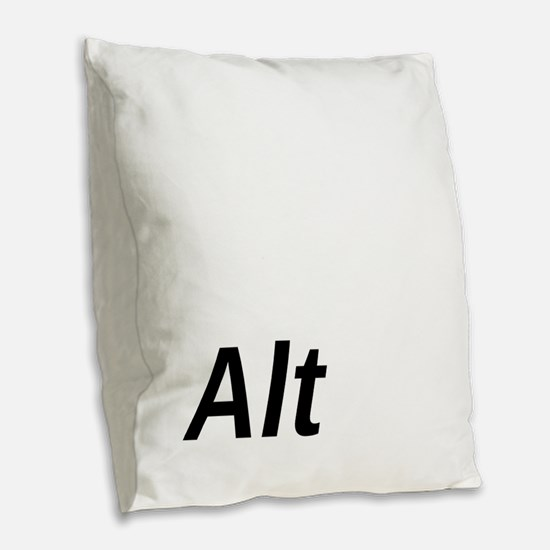Alt Key Burlap Throw Pillow