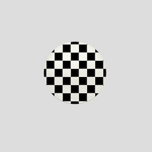 Black And White Checkered Mini Button