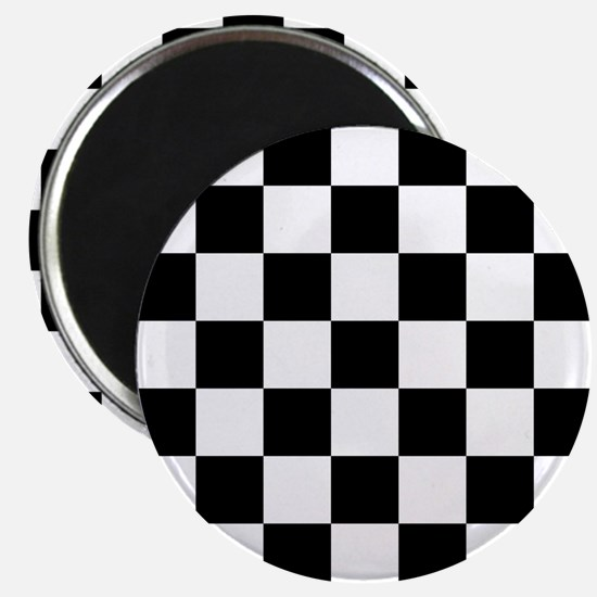 Black And White Checkered Magnets
