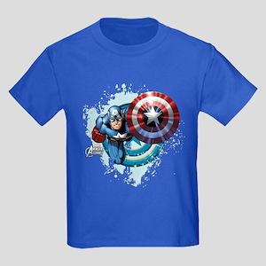 Captain America Flying Kids Dark T-Shirt