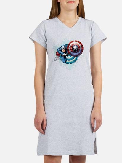 Captain America Flying Women's Nightshirt