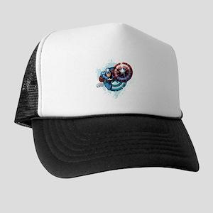 Captain America Flying Trucker Hat