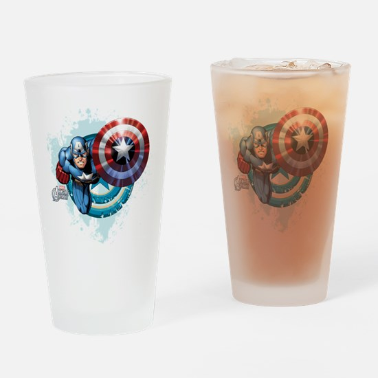 Captain America Flying Drinking Glass
