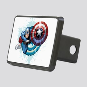 Captain America Flying Rectangular Hitch Cover